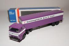 ± LION CAR DAF 2800 TRUCK WITH TRAILER KARTONNAGEFABRIEK BESIN NEAR MINT BOXED