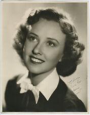 Original 1930s Beautiful Margaret Lindsay Large Format Autographed Photograph