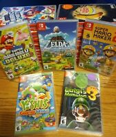 *01/17* Nintendo Switch Games Lot YOU PICK! ZELDA SUPER MARIO NEW & PREOWNED