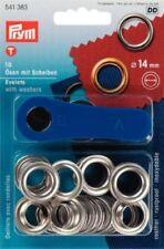 Ojales de latón Para cortinas y Accesorios 14mm 10 Pezzi Plata Prym 541383