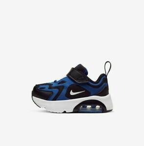 Nike Air Max 200 (TD) AT5629-402 Royal Blue Black White Baby Boy's Toddler Shoes