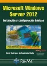 MSOFT.WINDOWS SERVER 2012: INST.Y CONFIGURACION BASICAS. ENVÍO URGENTE (ESPAÑA)
