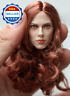 GACTOYS█1/6 scale Black Widow Scarlett Johansson Red Hair Head Sculpt