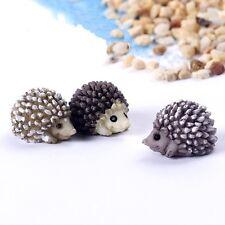 6 pcs Fairy Garden Animal Miniature Hedgehog Figurine Peferct Terrarium Supplies