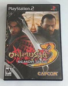 Onimusha 3: Demon Siege (Sony PlayStation 2, 2004) - NO MANUAL!