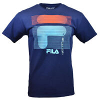 FILA Men's T-shirt S M L 2XL Red Turquoise Break Lights  Athletic Apparel NAVY