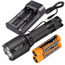 Fenix TK25 R&B 1000 Lumen Multi-Color LED Flashlight, Battery and Charger Combo