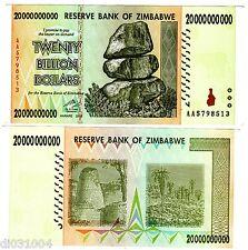 Zimbabwe Billet 20 BILLION ( MILLIARD ) 20000000000 DOLLARS 2008 P86 AA BON ETAT