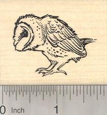 Barn Owl Rubber Stamp, Bird Profile View E25608 WM