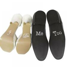 "Rhinestone Groom Wedding Decal Shoe Accessories ""I Do&Me Too"" Set Stickers"