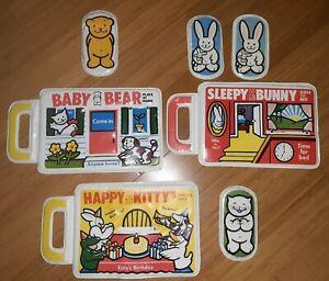 Vintage 1983 Johnson & Johnson Bath Book BABY BEAR,  HAPPY KITTY,  SLEEPY BUNNY