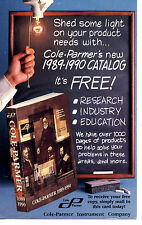 Cole Parmer 1989-90 Instrument Catalog Request-Vintage Advertising Postcard