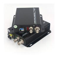 HD SDI Optical Extenders Kit - Video Audio Over Fiber Optic Converters SFP LC