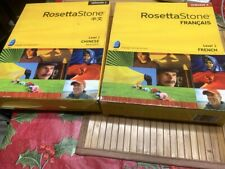 Lot of 2 Rosetta Stone - Chinese level 1- French 1