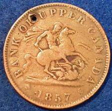 1857 Bank Of Upper Canada Penny Token  ID #A10-37