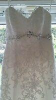 Ivory Benjamin Roberts lace and fishtail Wedding Dress Style 2109 size 10