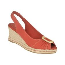 NATURALIZER BINA BRIGHT CORAL FABRICK SLINGBACK WEDGE WOMENS SIZE 6 M
