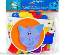 BLUE'S CLUES SHAPES THEME 5 FOOT PARTY BANNER
