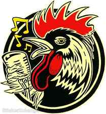 Rockabilly Rooster Sticker Decal by Artist Kruse RK35