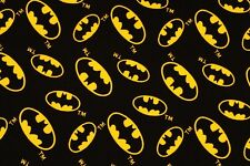 Canvas Batman Emblem Logo printed Fabric made in Korea Cotton by the Yard