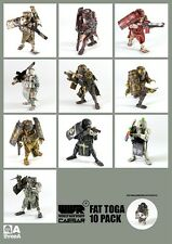 ThreeA Ashley Wood WWRp 1/12th  Scale Caesar Fat Toga 10 Pack Figures - New