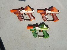 Set of 2  LAZER TAG Team OPS Blaster Orange tested & Green Tiger AS-IS