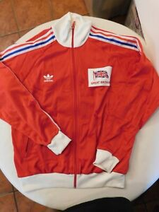 Adidas Prototype Olympics warm up track jacket Great Britain  XLg RARE Trac2-2