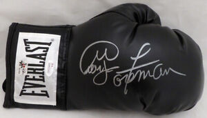 GEORGE FOREMAN AUTOGRAPHED SIGNED BLACK EVERLAST BOXING GLOVE RH JSA 140637