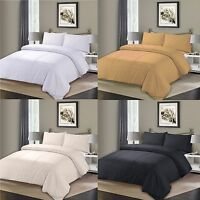 Superior Cotton Pleated Pintuck Duvet Quilt Cover & Pillowcase Bedding Set