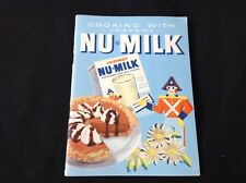 #57 Vintage 1940S Recipe Cook Booklet Nu-Milk Instant Dry Milk French English Ca