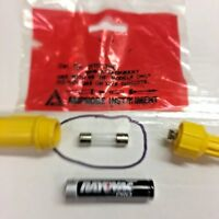 """AMPROBE INSTRUMENT Replacement Fuse, ONE (1) 1/4"""" Diameter x 1"""" Glass, 2.5 AMP"""