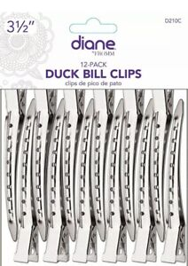 "Diane by Fromm D210C Duckbill Clips 12 clips/ 3.5"" duck bill clips( 2 pack)"