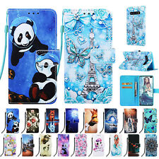 Pattern Wallet Flip Stand Phone Case Cover Fr Samsung Galaxy S9 S10 Note 10 Plus