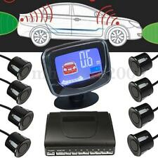 8 Parking Sensors Car Rear View Reverse Backup Front  LCD  Display Radar System