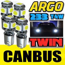4X MG TR JAGUAR WHITE LED SIDELIGHT / GAUGE BULB BA9S GLB233 GLB989 CLASSIC CAR