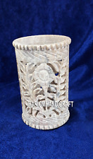 Indian Handicraft And Crafts Marble Pen Stand Arts Living Home Decoration H4193
