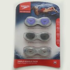Speedo Adult Swim Goggles Triple Pack Different Codding Lens New In Pack