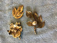 VINTAGE COROCRAFT COSTUME BROOCH PIN Signed  + 2 Other Beautiful Brooches