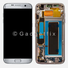 US Samsung Galaxy S7 Edge G935A G935T G935V G935P LCD Display Touch Screen Frame