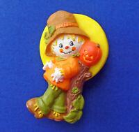 Hallmark PIN Halloween Vintage SCARECROW MOON JOL PUMPKIN Holiday Brooch 1970s