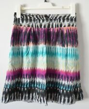 COLORADO Skirt Sz 8 Small A Line Circle Cotton Pink blue Black