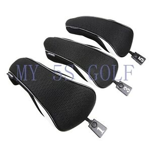 3PCS Golf Black Wood Cover #1 3 5 Driver Fairway Wood Cover for Callaway  Ping