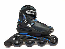 Roces Stripes black blue Fitness Inline Skates Gr. 45 -Sale- Inliner Abec 5 80mm