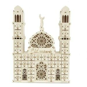 Eid Mubarak Countdown Calendar Wood Ramadan Decoration