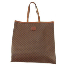 Celine tote bag macadam PVC �~ leather Auth used T18476
