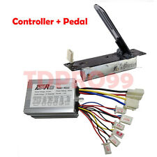 36V 500w Electric  Brush Controller  with Foot Pedal Throttle For ATV E Bike Sco