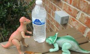 Vintage Playskool Definitely Dinosaurs Pachycephalosaurus and PROTOCERATOPS 1987