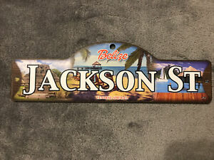 Jackson St Street Sign Personalized Custom Name Wooden Sign Belize