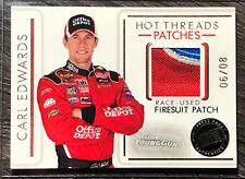 2007 Press Pass #HTP21 CARL EDWARDS Nascar Race-Used FIRESUIT PATCH Card #06/08