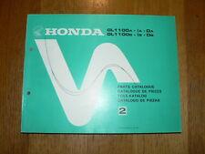 HONDA GL1100 A & IA & DA & B & IB & DB 1980 GOLDWING PARTS CATALOGUE  MOTORCYCLE